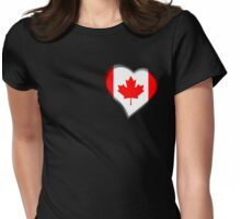 Canadian Flag - Canada - Heart Womens Fitted T-Shirt
