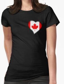 Canadian Flag - Canada - Heart T-Shirt