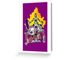 The Evolution of Frieza Greeting Card