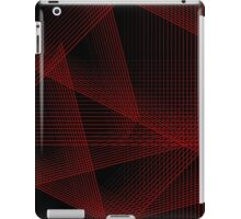 Abstract in Red and Black iPad Case/Skin