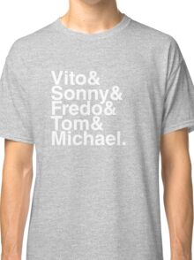 Vito & Sonny & Fredo & Tom & Michael (The Godfather) Classic T-Shirt