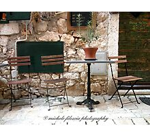 A Table and Chairs Photographic Print