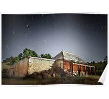 Star Trails Ruin Poster