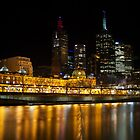 Melbourne at night by photojunk