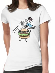 Dinner Is Served! Womens Fitted T-Shirt