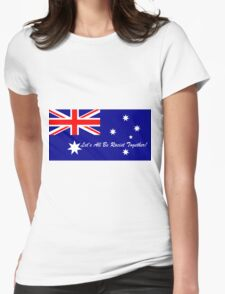 Aussie racist Womens Fitted T-Shirt