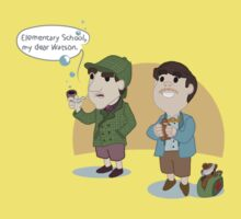 Lil Holmes & Watson Baby Tee