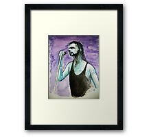 Portrait of Dave Gahan - DM :))  Framed Print