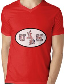 UK - Union Jack Mens V-Neck T-Shirt