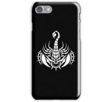Zodiac Sign Scorpio White iPhone Case/Skin
