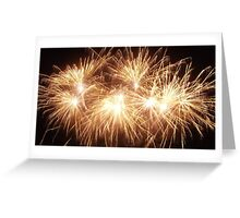 The Beauty Of Fireworks Greeting Card