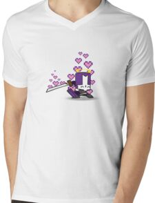 Purpley Knightey Mens V-Neck T-Shirt