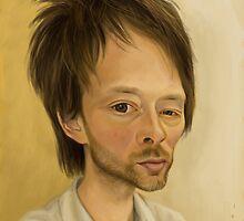 Thom Yorke from Radiohead Caricature by Dan Johnson
