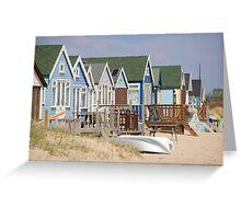Beach Huts, Mudeford Greeting Card