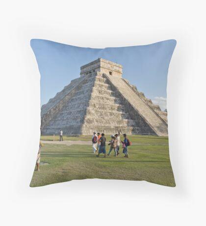 Chichen Itza (Colour) Throw Pillow