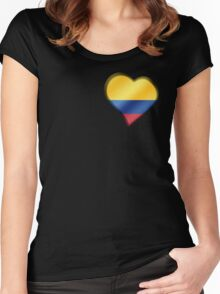 Columbian Flag - Columbia - Heart Women's Fitted Scoop T-Shirt