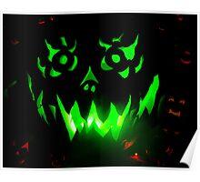Green Jack-O-Lantern Poster