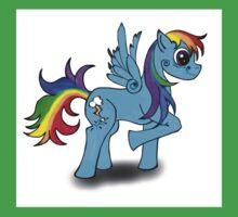 Rainbow zap Baby Tee