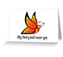 Semicolon Suicide Depression Awareness Butterfly Greeting Card