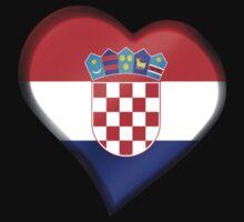 Croatian Flag - Croatia - Heart by graphix