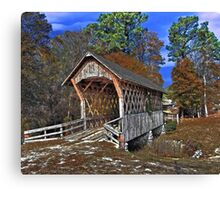 Poole's Covered Bridge Canvas Print