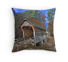 Poole's Covered Bridge Throw Pillow