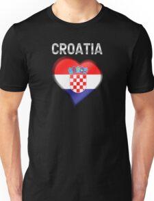 Croatia - Croatian Heart & Text - Metallic Unisex T-Shirt