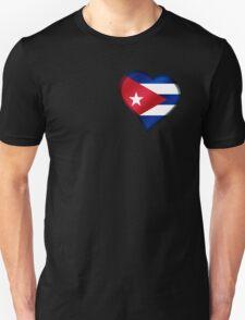 Cuban Flag - Cuba - Heart T-Shirt