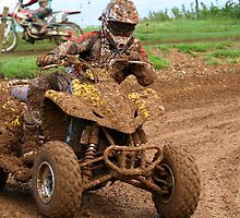 Quad bike on dirt track by NKSharp