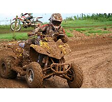 Quad bike on dirt track Photographic Print