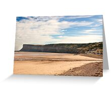 The Beach - Saltburn. Greeting Card