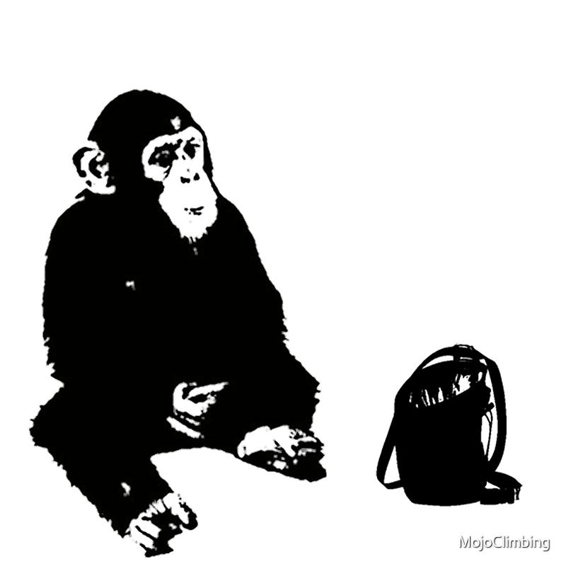 Chimp & Chalkbag by MojoClimbing