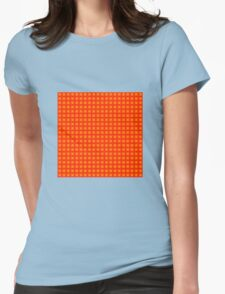 Squares - Yellow + Red Border Womens Fitted T-Shirt