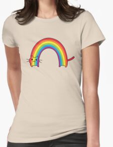 Rainbow Cat Womens Fitted T-Shirt