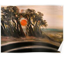 Sunset and Cypress and Highway 1 Poster