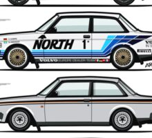 Stack Of Volvo 242 240 Series Brick Coupes Sticker