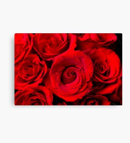 Red Rose Bouquet Dream Canvas Print