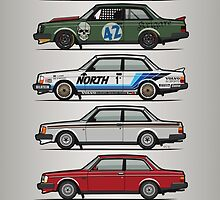 Stack Of Volvo 242 240 Series Brick Coupes by Tom Mayer