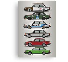 Stack Of Volvo 242 240 Series Brick Coupes Canvas Print