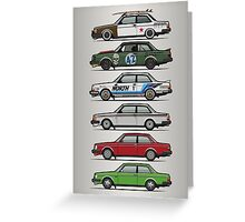 Stack Of Volvo 242 240 Series Brick Coupes Greeting Card