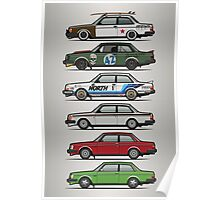 Stack Of Volvo 242 240 Series Brick Coupes Poster