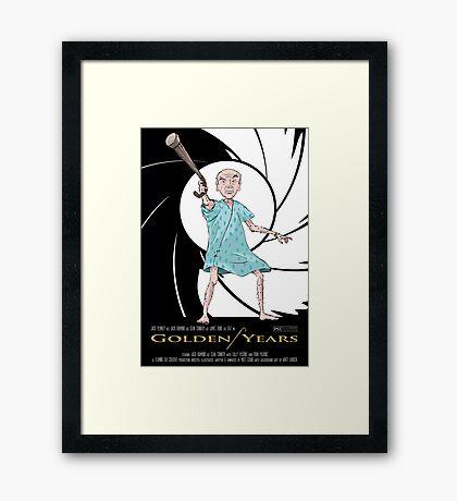 Golden Years - A James Bond Parody Framed Print