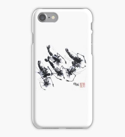 Sumi-e Shrimps represent Abundance! iPhone Case/Skin