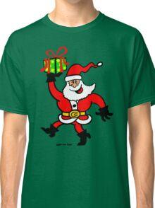 Santa Claus Brings a Gift Classic T-Shirt