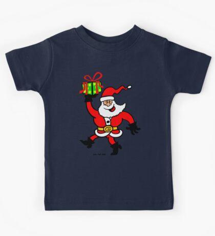 Santa Claus Brings a Gift Kids Tee