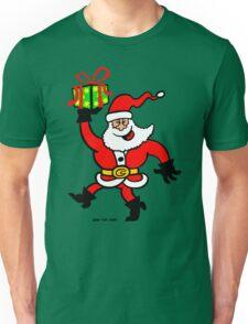 Santa Claus Brings a Gift Unisex T-Shirt