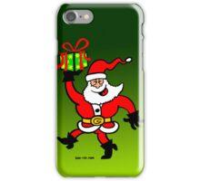 Santa Claus Brings a Gift iPhone Case/Skin