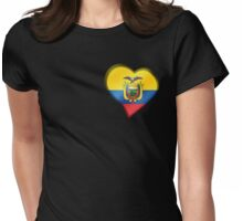 Ecuadorian Flag - Ecuador - Heart Womens Fitted T-Shirt