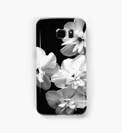 White on Black Samsung Galaxy Case/Skin