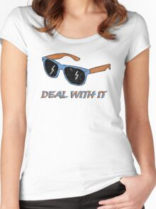 Deal With It - Shades Women's Fitted Scoop T-Shirt